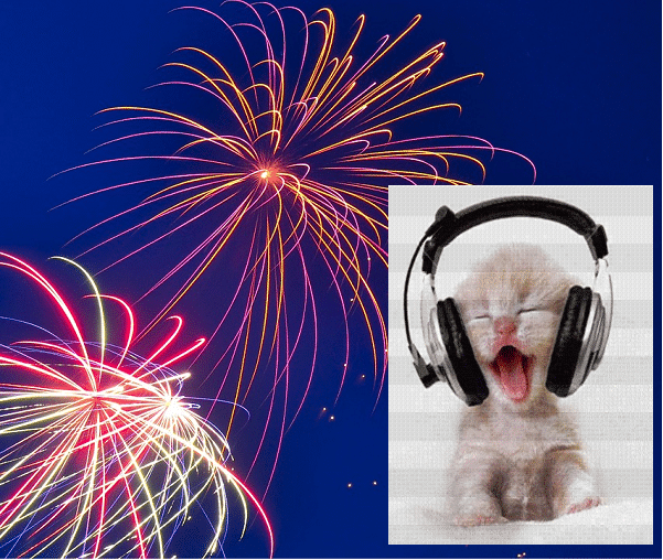 July 4 kitty with headset