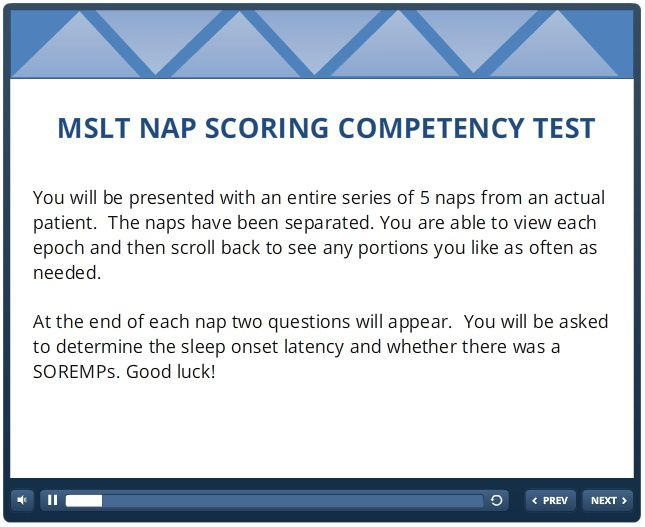 mslt nap scoring competency test