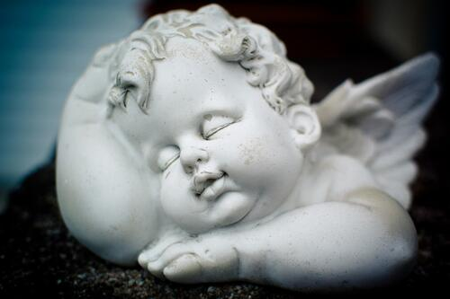 sleeping cherub